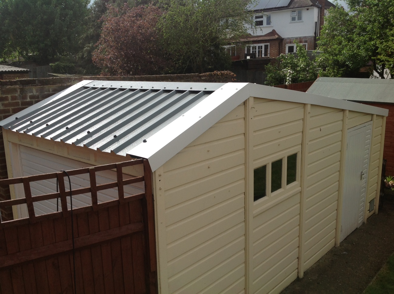 Car Roof Sheet Metal For Garage : Hollybush buildings replacement garage roofs